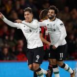 Liverpool Menuai Kemenangan 4 – 0 Saat Hadapi Bournemouth