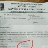 Surat Edaran Di Tanda Tangani Atas Nama Kepala Desa