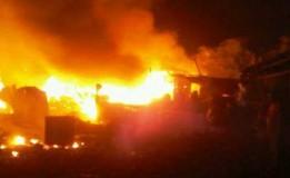 Pasar Ciawitali Garut Terbakar Diduga Akibat Korsleting Listrik